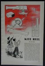 Kite Reel with Brake How-To build PLANS prevents string break