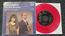 Eurythmics - Love is a stranger 7'' Single Germany CLEAR PINK VINYL