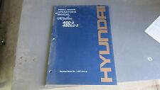 HYUNDAI 450-3, 450LC-3 Excavator Operators Manual # 94E7-30041