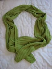 COOL: sciarpa lana costine verde lime LIME GREEN WOOL SCARF FOR MAN AND WOMAN