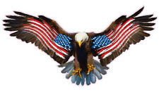 "Bald Eagle Worn American Flag Decal is 36"" in size  Free Shipping"
