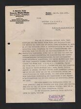 BAUTZEN, Brief 1937, C. Schneider Nach. Baumeister Walter Mohn Hoch-Tiefbau