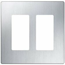 1 Pk Cw-2 Ss Lutron Screwless Wall Plate Stainless Steel 1Pk