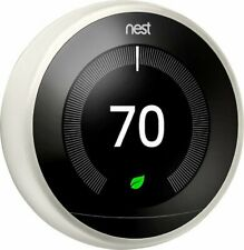 Google Nest Learning Thermostat T3017US (White) New