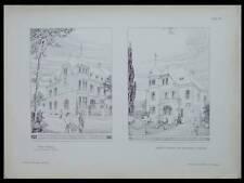 VILLAS A BARMEN - 1902 - PLANCHE ARCHITECTURE - FRITZ SCHUMACHER