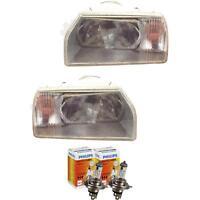 Halogen Scheinwerfer Set Skoda Favorit 88-12.94 H4 ohne Motor Blinker 1379920