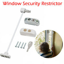 White Window Door Cable Restrictor Ventilator Child Safety Security Lock
