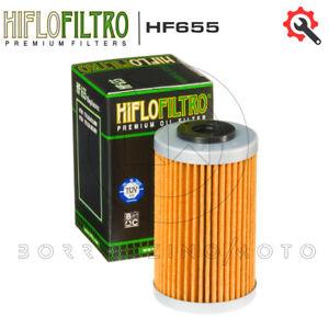 FILTRO OLIO HIFLO HF655 OMOLOGATO TUV KTM 450 EXC 2012 2013 2014 2015 2016