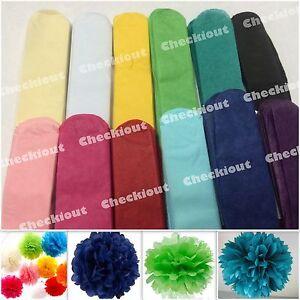 "5pc Pom Pom 4"" 8"" 12"" Tissue Paper Color Flowers Wedding Party Craft Decoration"
