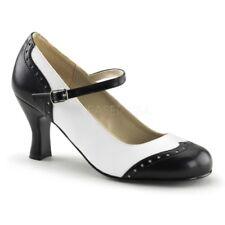 IN STOCK / SALE - FUNTASMA Flapper-25 Black White Gangster Costume Heels Size 6