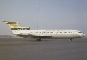 CIVIL AIRCRAFT PHOTO POSTCARD CHANNEL AIRWAYS PLANE PICTURE OF A HS-121 TRIDENT.