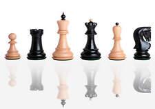 "USCF Sales The Zagreb '59 Chess Set - Pieces Only - 2.875"" King - Ebonized Boxwo"