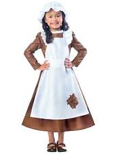 Child Victorian Maid Poor Girls Book Day Week New Fancy Dress Costume Kids 3-12