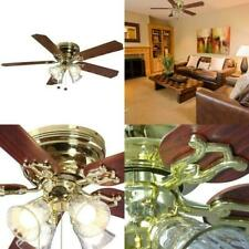 """Hampton Bay 52"""" Ceiling Fan With Light Kit Indoor 5 Blade Polished Brass"""