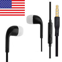 Stereo Headset Headphones Earphones Mic for SAMSUNG Galaxy S3 S4 S5 NOTE3  Black