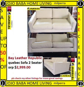 Bay Leather Republic quebec Sofa 2 Seater orp $2,999.00