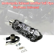 38mm-51mm Motorcycle Scooter Street Bike Exhaust Muffler Tail Pipe Kit Machinist