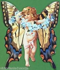 Victorian Christmas Ornament Cherub Butterfly