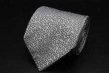 STEFANO RICCI Tie. Whimsical Gray Geometric. Made in Italy