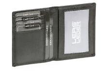 Ausweis- und Kreditkartenhülle/mappe/heft LEAS in Echt-Leder, schwarz