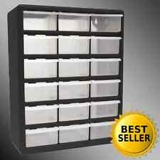 18 Drawer Clear Plastic Storage Bins Bedroom Parts Organizer Boxes Cabinet Home