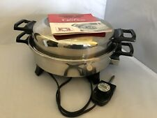 "Kitchen Nutrition Regal Ware 12"" Stainless Electric Skillet K7271"