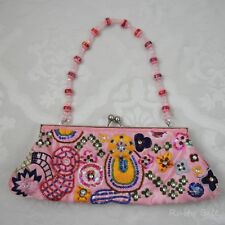 Pink Beaded Fashion Express Purse Clutch
