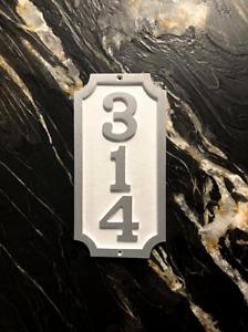 """Traditional Vertical William: Custom, Solid Aluminum Address Plaque 6"""" X 11 3/4"""""""