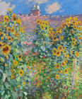 Sunflowers Claude Monet Floral Home Decoration Print on Canvas Giclee Small 8x10