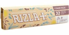 RIZLA NATURA KING SIZE SLIM HEMP ROLLING PAPERS + TIPS - BULK BUY DEALS