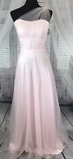Sarah Bridal Wedding Dress Gown Long Pink Tutu Size 2 Tulle Shoulder Stapless