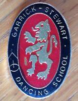 Garrick Stewart Dancing School Pin Badge Rare Vintage Original (D2)