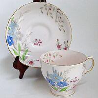 Tuscan Pink  Floral Teacup & Saucer England