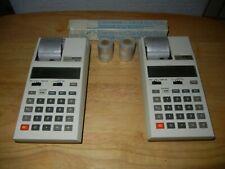 2 Vintage Casio HR-10 Calendar Printing Calculators w/ 12 rolls of NEW TAPE