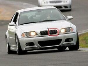 Genuine BMW E46 Sedan Front Radiator Kidney Black Grille Left OEM 51138208487