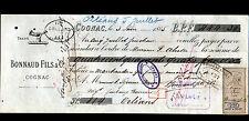 """COGNAC (16) ALCOOL COGNAC """"BONNAUD Fils & Cie"""" en 1885"""