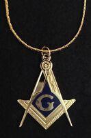 "Masonic Large Enameled Pendant with 30"" Chain New (MM3-PC)"