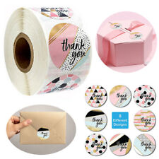 #Us 1 Roll 500pcs 1' 25mm Thank You Stickers Round Love Labels Wedding Sticker