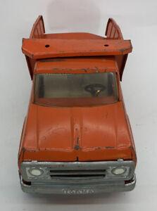 Tonka Orange Press Steel Dump Truck XR-101 Tires Vintage 1960s '70s
