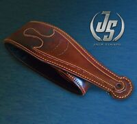 Genuine Leather Guitar/Bass Strap Padded Brown GL-020-02