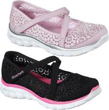 Skechers SKECH FLEX 2.0 COMFY CROCHETES Girls Summer Sporty Mary Jane Shoes