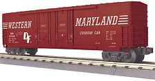 MTH Railking O Trains Western Maryland 50' Double Door Plugged Box Car 30-74756
