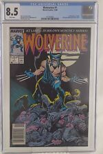 Wolverine #1 (1988, Marvel) CGC 8.5 VF+ 1ST PATCH, JOHN BYRNE PIN-UP BACK COVER