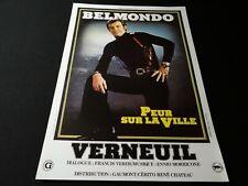 jean paul belmondo PEUR SUR LA VILLE  affiche cinema