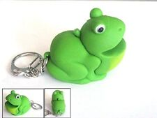 Frog Keyring Keychain with Sound and LED Light