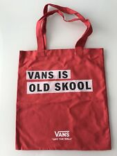 Vans 'Old Skool' Printed Canvas Tote Bag in Red/White/Black NEW and UNUSED
