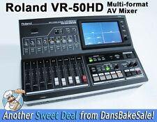 Roland VR-50HD Multi-format AV Mixer Streaming Recording Dealer Demo - Excellent