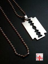 Collares y colgantes de bisutería de acero inoxidable sin piedra