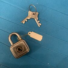 Antique small warded Padlock Tropex 80 with 2 keys direct from Germany