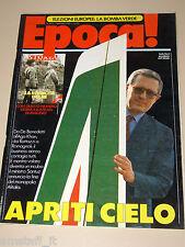 EPOCA=1989/2013=CARLO VERRI ALITALIA=RHONE POULENC LIONEL PEAN=UMA THURMAN=